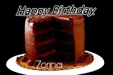Happy Birthday Zorina Cake Image