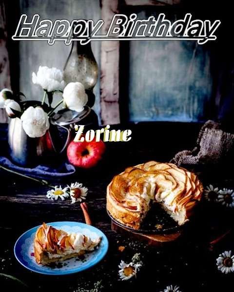 Happy Birthday Zorine Cake Image