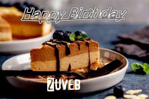 Happy Birthday Zuveb Cake Image