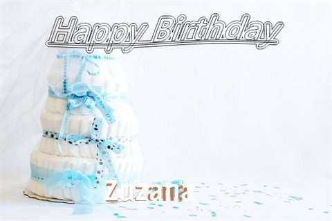 Happy Birthday Zuzana Cake Image